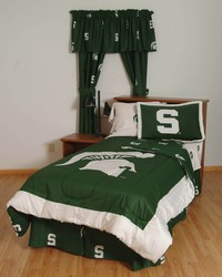 Michigan State Spartans Bed in a Bag Twin  With White Team Sheets by