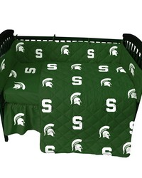 Michigan State Spartans Baby Crib Fitted Sheet Pair  Solid Includes 2 Fitted sheets by