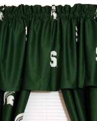 Michigan State Spartans Printed Curtain Valance  84 in  x 15 in  by
