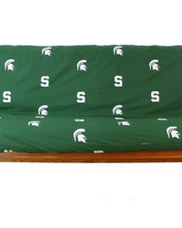 Michigan State Spartans Futon Cover  Full size fits 6 and 8 inch mats by