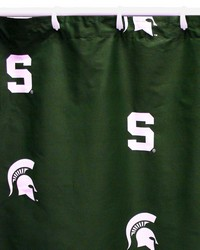 Michigan State Spartans Printed Shower Curtain Cover  70 in  x 72 in  by
