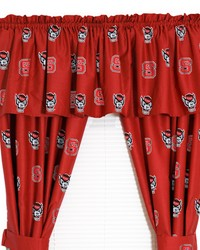 North Carolina State Wolfpack Printed Curtain Panels 42 in  x 63 in  by