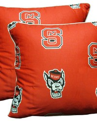 North Carolina State Wolfpack 16 in  x 16 in  Decorative Pillow  Includes 2 Decorative Pillows by