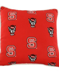 North Carolina State Wolfpack Outdoor Decorative Pillow 16 in  x 16 in  by