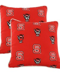 North Carolina State Wolfpack Outdoor Decorative Pillow Pair  2 16 in  x 16 in  Pillows by