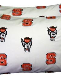 North Carolina State Wolfpack Pillowcase Pair  White by