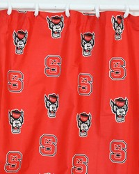 North Carolina State Wolfpack Printed Shower Curtain Cover  70 in  x 72 in  by