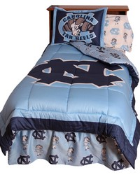North Carolina Tar Heels Reversible Comforter Set  Twin by