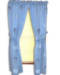 North Carolina Tar Heels Printed Curtain Panels 42 in  x 63 in  by