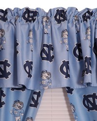 North Carolina Tar Heels Printed Curtain Valance  84 in  x 15 in  by