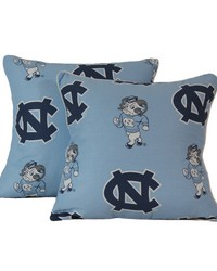 North Carolina Tar Heels 16 in  x 16 in  Decorative Pillow  Includes 2 Decorative Pillows by