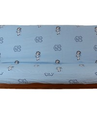 North Carolina Tar Heels Futon Cover  Full size fits 6 and 8 inch mats by