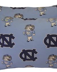 North Carolina Tar Heels Pillowcase Pair  Solid by