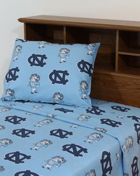 North Carolina Tar Heels Sheet Set - Blue by