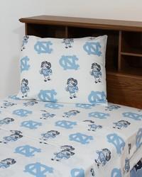 North Carolina Tar Heels Sheet Set - White by
