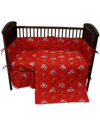 Ohio State Buckeyes Crib Bedding Set by