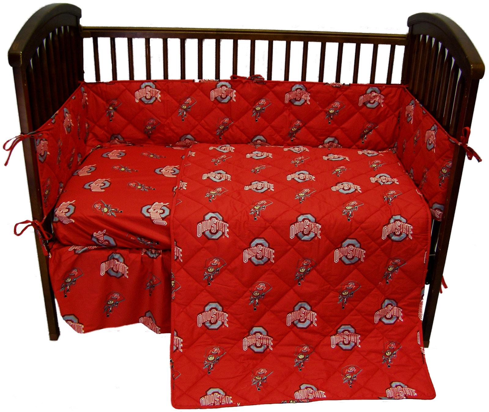 Ohio State Buckeyes Crib Bedding Set