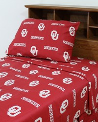 Oklahoma Sooners Sheet Set - Red by