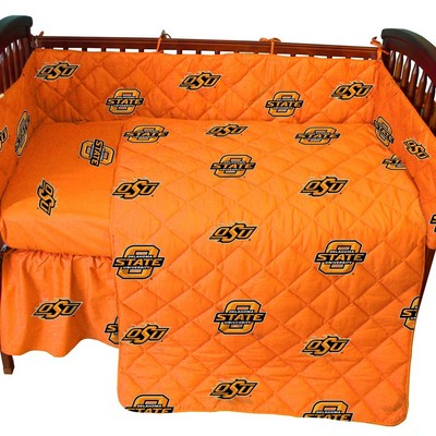 College Covers Oklahoma State Cowboys Crib Bedding Set  College Baby Bedding
