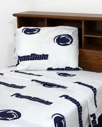 Penn State Lions Sheet Set - White by