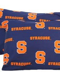 Syracuse Orangemen Pillowcase Pair  Solid by