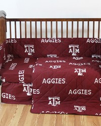 Texas AM Aggies Crib Bedding Set by