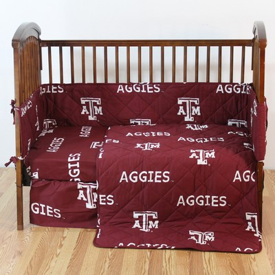 College Covers Texas A&M Aggies Crib Bedding Set  College Baby Bedding