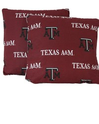 Texas AM Aggies 16 in  x 16 in  Decorative Pillow  Includes 2 Decorative Pillows by