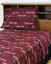 Texas AM Aggies Sheet Set - Red by