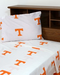 Tennessee Volunteers Sheet Set - White by