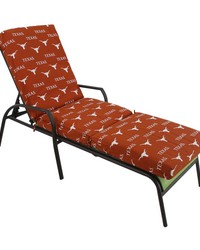 Texas Longhorns 3pc Chaise Lounge Cushion by