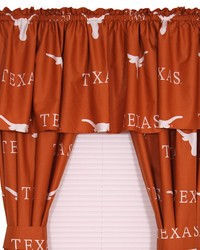 Texas Longhorns Printed Curtain Panels 42 in  x 63 in  by