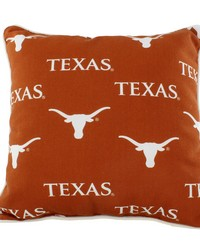 Texas Longhorns Outdoor Decorative Pillow 16 in  x 16 in  by