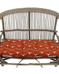 Texas Longhorns Settee Cushion by