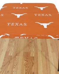 Texas Longhorns Card Table Cover  33 in  x 33 in  by