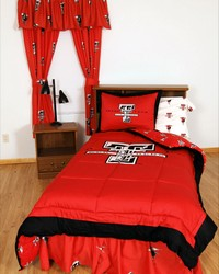 Texas Tech Red Raiders Bed in a Bag Twin  With White Team Sheets by