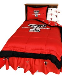 Texas Tech Red Raiders Reversible Comforter Set  Twin by