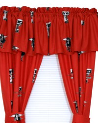 Texas Tech Red Raiders Printed Curtain Panels 42 in  x 63 in  by