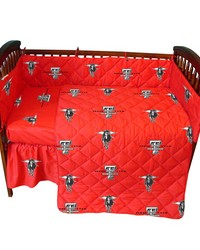 Texas Tech Red Raiders Baby Crib Fitted Sheet Pair  Solid Includes 2 Fitted sheets by