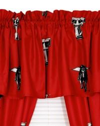 Texas Tech Red Raiders Printed Curtain Valance  84 in  x 15 in  by