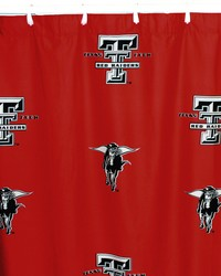 Texas Tech Red Raiders Printed Shower Curtain Cover  70 in  x 72 in  by