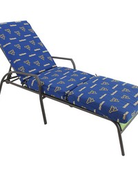 West Virginia Mountaineers 3pc Chaise Lounge Cushion by