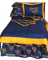 West Virginia Mountaineers Reversible Comforter Set  Twin by