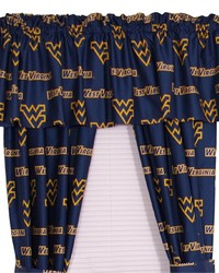 West Virginia Mountaineers Printed Curtain Panels 42 in  x 63 in  by