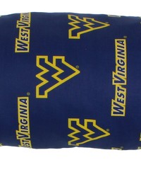 West Virginia Mountaineers Printed Body Pillow  20 in  x 60 in  by