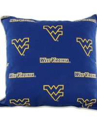 West Virginia Mountaineers Outdoor Decorative Pillow 16 in  x 16 in  by
