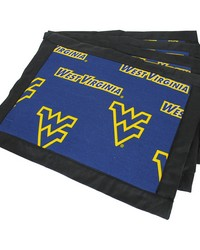 West Virginia Mountaineers Placemat w Border Set  of 4 by