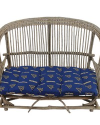 West Virginia Mountaineers Settee Cushion by