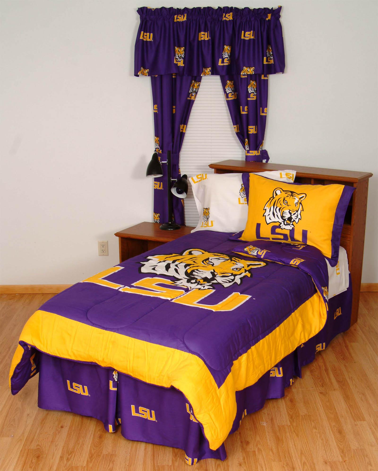 Beau Louisiana State Tigers Bed N A Bag Set