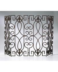 Wrought Iron Fire Screen by